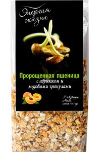 Пророщенная пшеница с медовыми гранулами и абрикосом 120 г
