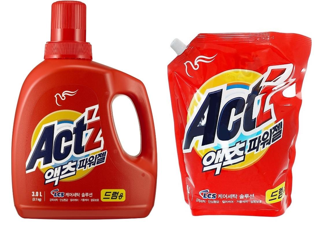 """161612 PIGEON \""""Act z\"""" Гель для стирки, концентрированный, для ручной стирки и машин любого типа, 2100 мл, запасной блок"""