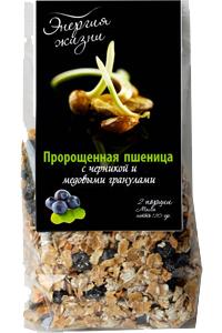 Пророщенная пшеница с черникой и медовыми гранулами 120 г
