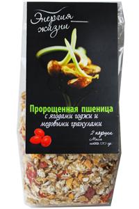 Пророщенная пшеница с ягодами Годжи и медовыми гранулами 120 г