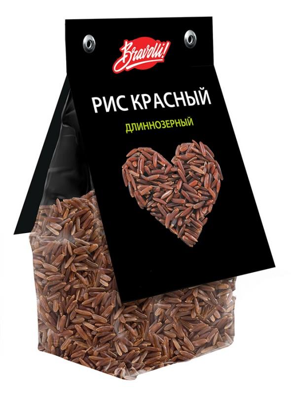 Рис красный длиннозерный Bravolli! 350г/6/