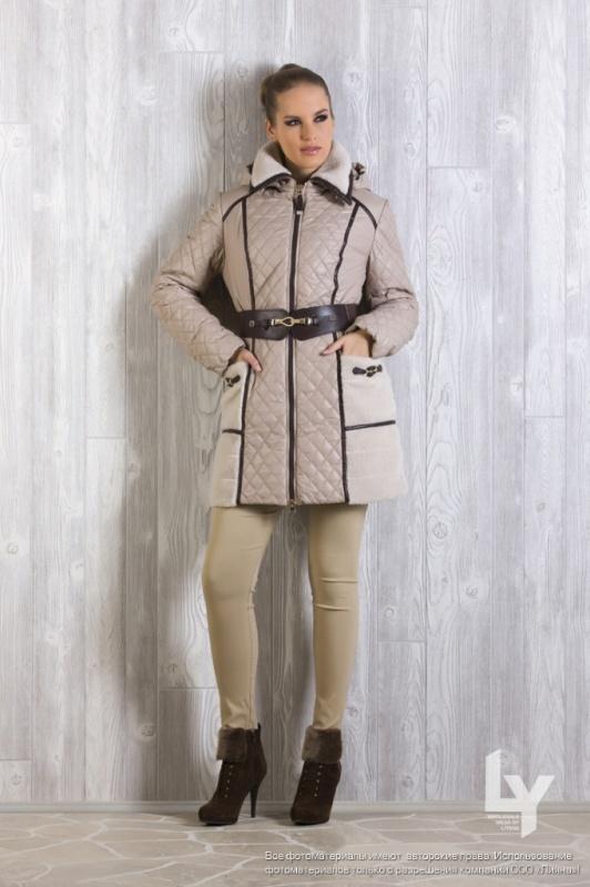 № 1456 П/пальто Т.бежевый 48