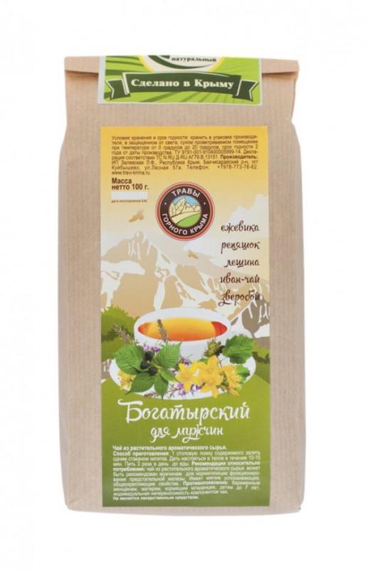 Травяной чай Богатырский (для мужчин) 100 г