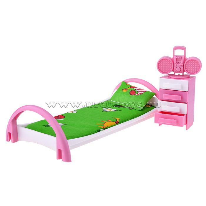 """Набор Мебели \""""Кровать с тумбочкой\"""" (Кристина)"""
