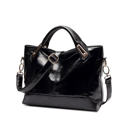 Большой женская сумка с открытым верхом на молнии, телячья кожа