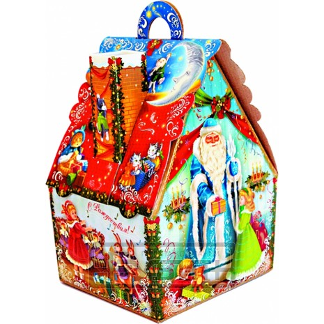 Новогодний подарок Дом (картон, 900 г)