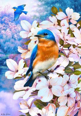 """Картина по номерам """"Птицы весны"""" (малая) 20*30 см"""