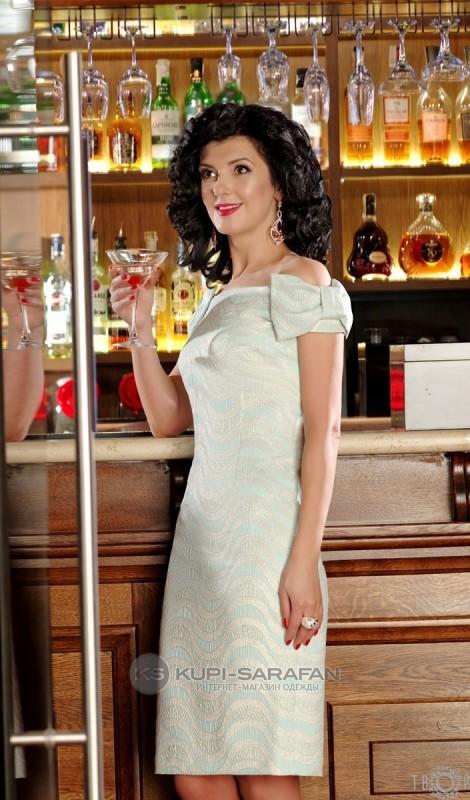 Платье Твой Имидж 2067 голубой
