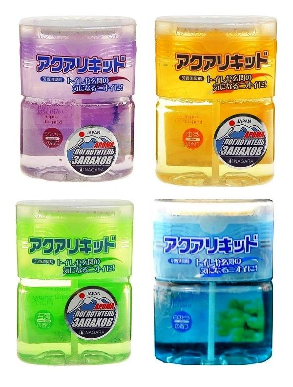 """003852 NAGARA \""""Aqua liquid\"""" Арома-поглотитель запахов, жидкий, аромат японского цитруса,  200 мл"""