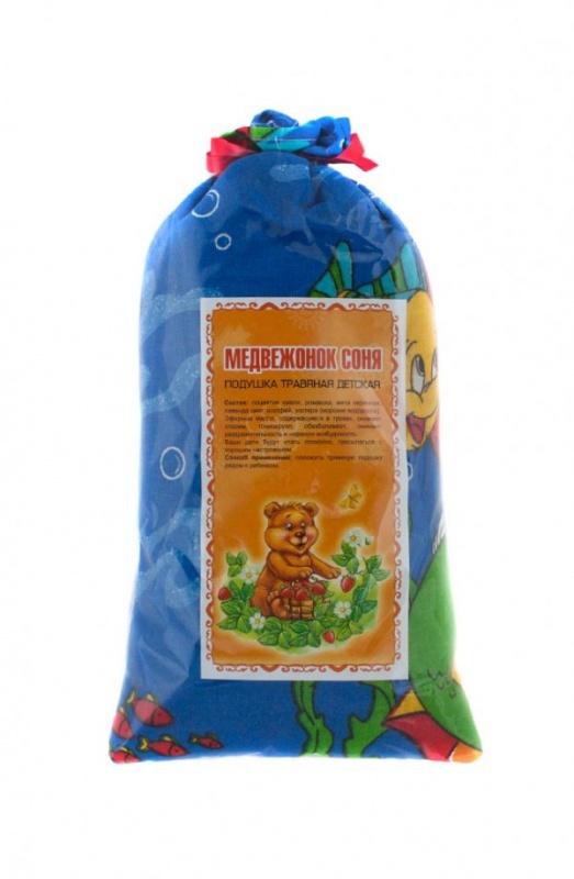 Травяная подушка Медвежонок Соня (детская) 10*20 см