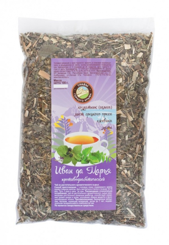 Травяной чай Иван да Марья (противодиабетический) 100 г