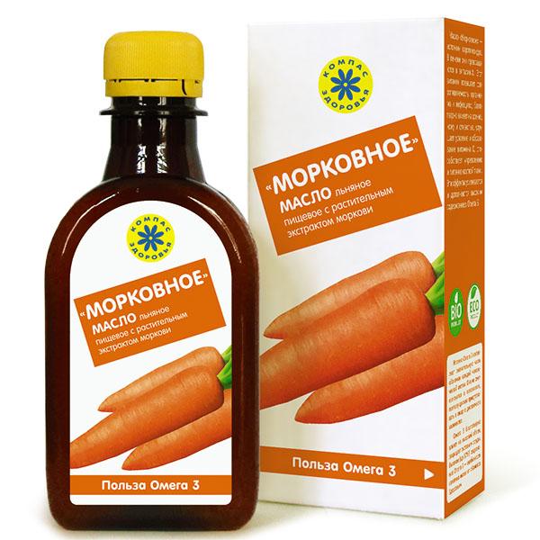 """""""Морковное"""" - масло льняное с экстрактом моркови 0,2 л"""