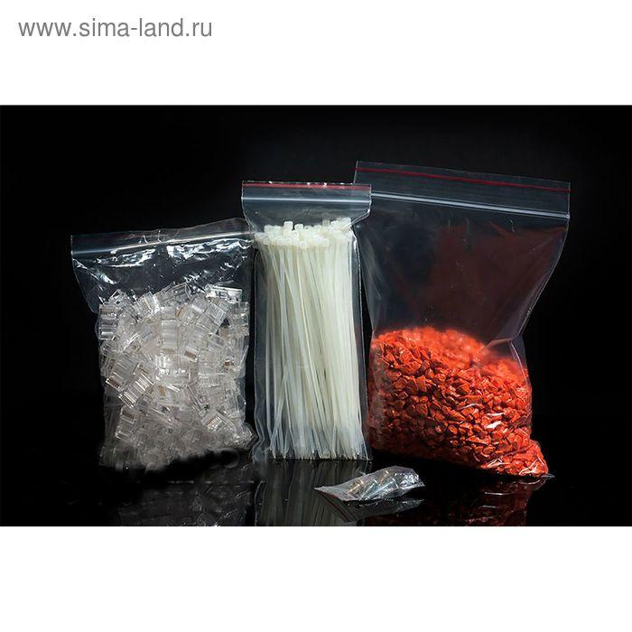 Пакет zip lock 18 х 25 см (с красной полосой)