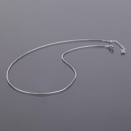 Цепочка для кулона под серебро, Диаметр 1 мм