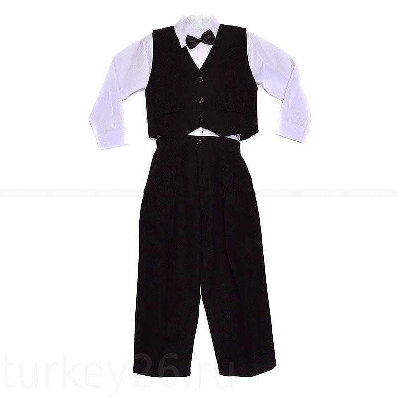 Костюм M@N жилет, брюки, рубашка, бабочка размерный ряд 86.92,98,104,110 см