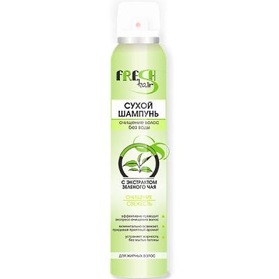 Fresh Hair Сухой шампунь Очищение с экстрактом зеленого чая для жирных волос 200 мл