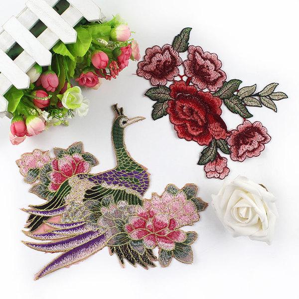 вышивка павлин цветы маленькие