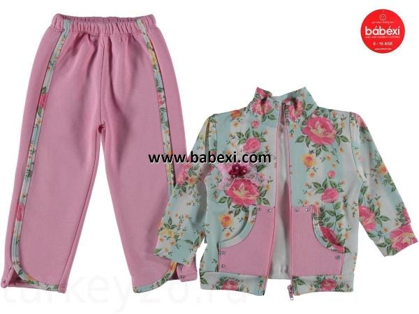 Костюм Baby Ricо кофта, брюки утепленные, кофта размерный ряд 80,92,98 см малиновый