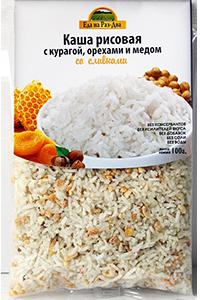 Каша рисовая с курагой и медом