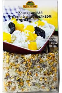 Каша рисовая с тыквой, черносливом и сливками