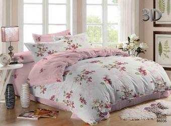 """Артикул: 662. Комплект постельного белья (КПБ) из поплина \""""Розовый рай\"""" 2 спальный (2 наволочки)"""