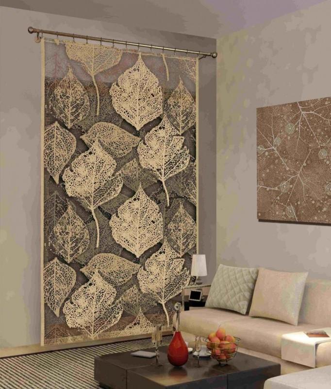 624537 LICIE (Листья), дизайнерская панель, размеры: 150 см ширина * 250 см высота, на универсальной ленте