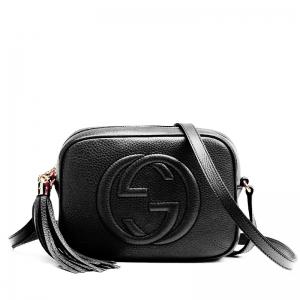 60010-Black Маленькая, очаровательная сумочка в стиле GUCCI