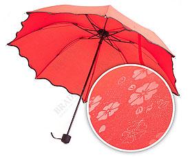 Зонт с проявляющимся рисунком, красный Bradex SU 0033