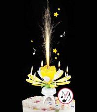 Праздничная музыкальная свеча OP-007