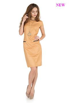 Платье 420 замша горчичная