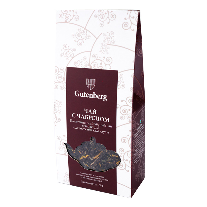 94001-101 Чай Gutenberg черный Чабрец, 100 г