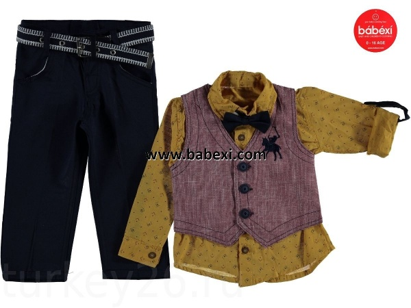 Костюм Hikon baby рубашка, брюки, бабочка, жилетка