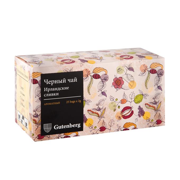 """Чай черный пакетированный """"Ирландские сливки"""" в инд. вакуумной упаковке (25 шт. x 2 г)"""