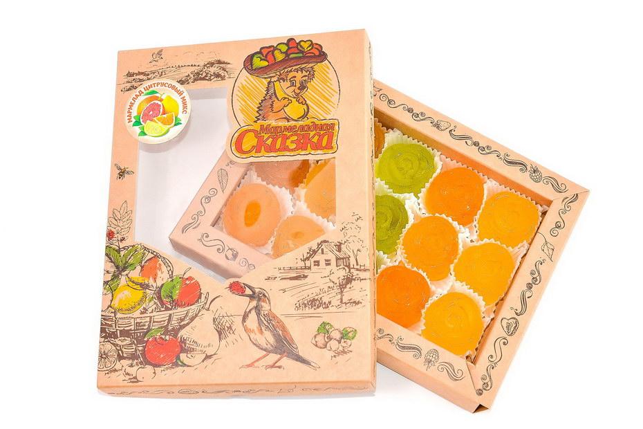"Мармелад желейный формовой \""Ассорти цитрусовый\"" (апельсин, лимон, грейпфрут, лайм) (500гр)"