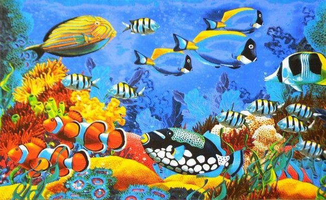 """Полотенце пляжное \""""Красное море 3D\"""" 100*150 см. вафля хлопок 100% - 139 руб."""