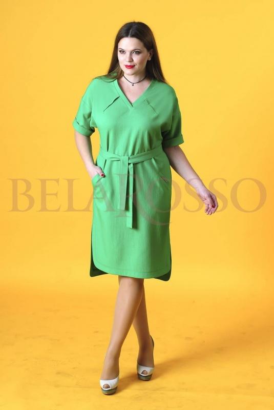Платье Axxa 54009 зеленый