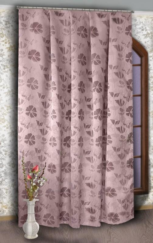 4916-П, МАКИ, метраж для портьер, цвет : бледно--розоая основа, рисунок - каштановый, ширина 190 см