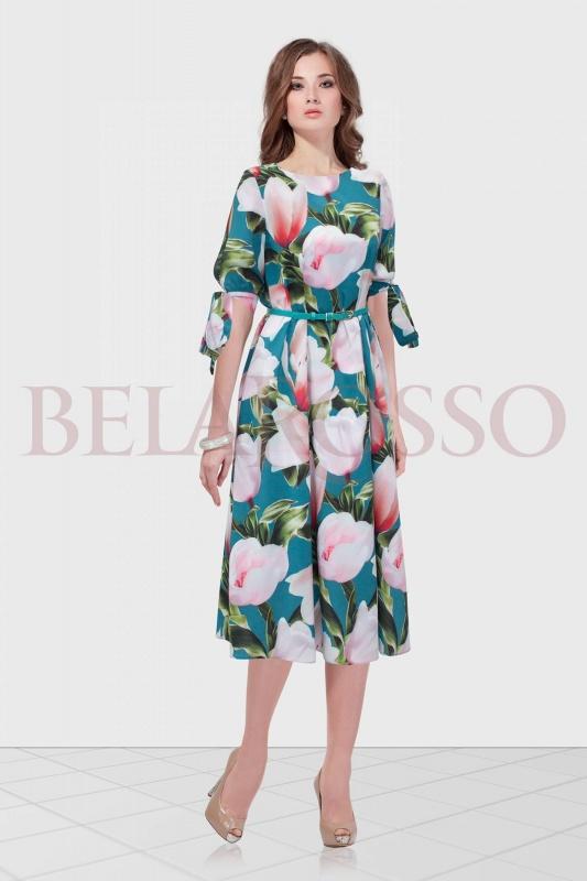 Платье Condra deluxe 4645 белый магнолии