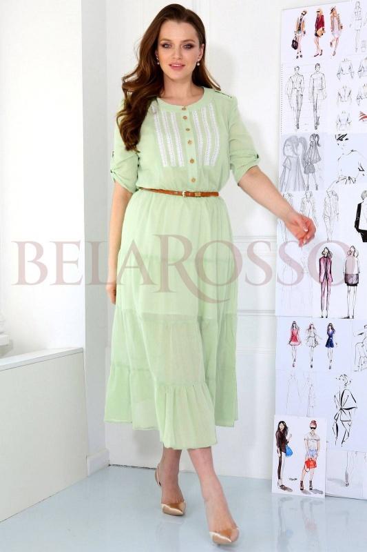 Платье ЮРС 17-496сз светло-зеленый