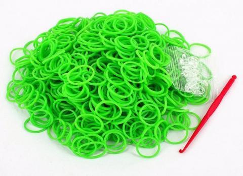 Набор резинок для плетения в пакетике 10000 шт (Артикул: К-105-12 , Цвет: Зеленый) (960395678)