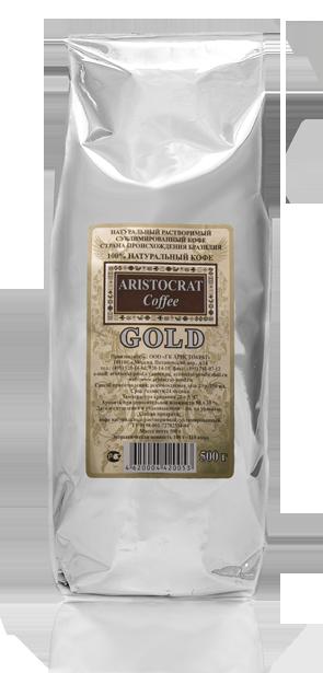 «GOLD» (Бразилия арабика) Кофе натуральный растворимый сублимированный 500 г