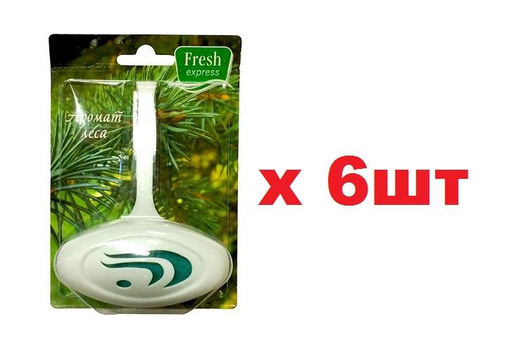 Освежитель WC для унитаза (део-блок) Fresh express Аромат леса 6шт