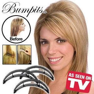 Заколка для придания объема волос Bumpits (Бампитс) 5 штук цвет черный