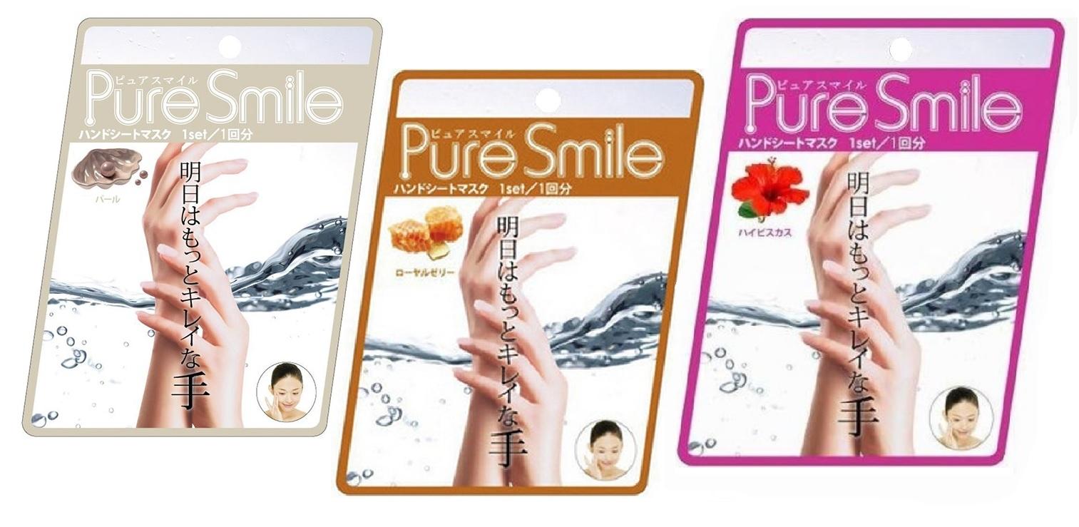 """005148 SUN SMILE """"Pure Smile"""" Питательная маска-перчатки для рук, с эссенцией гибискуса, 16 г"""