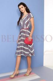 Платье Anna Majewska 918 мелкая полоска