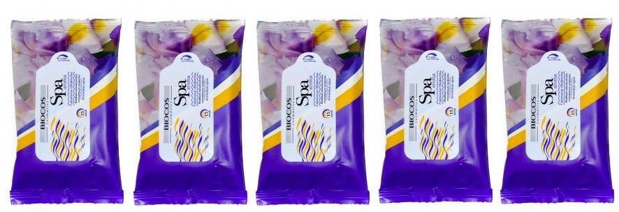 Салфетки влажные SPA Aroma 15шт Японский ирис 5шт