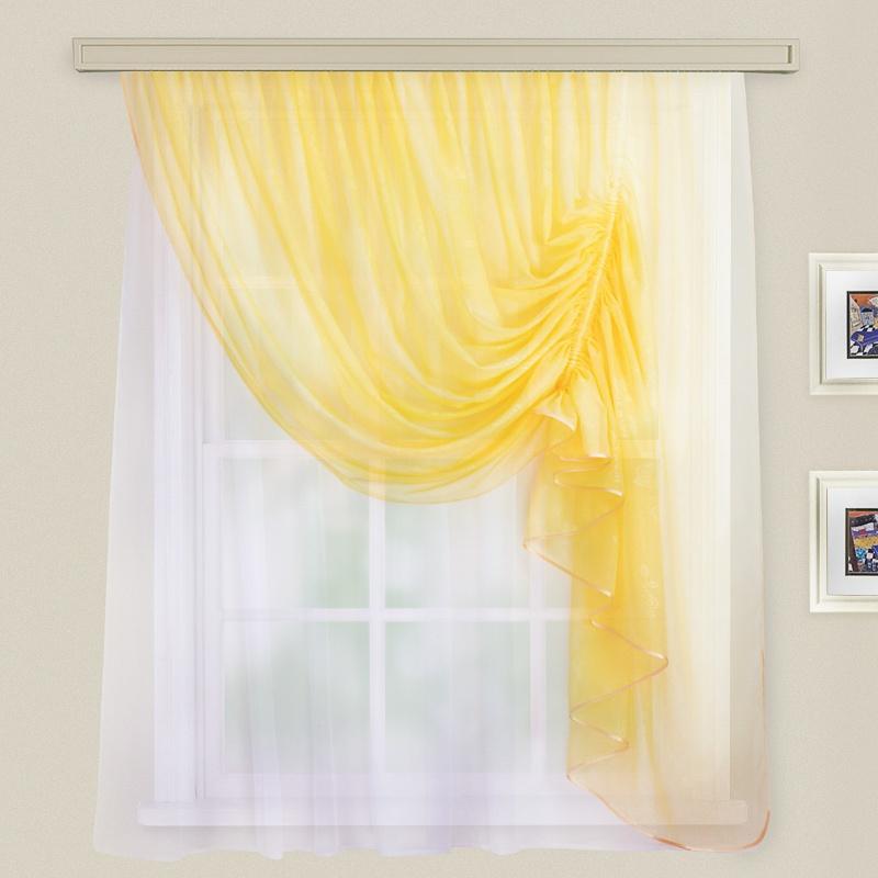 Комплект штор для кухни Муза светло-желтый прав.