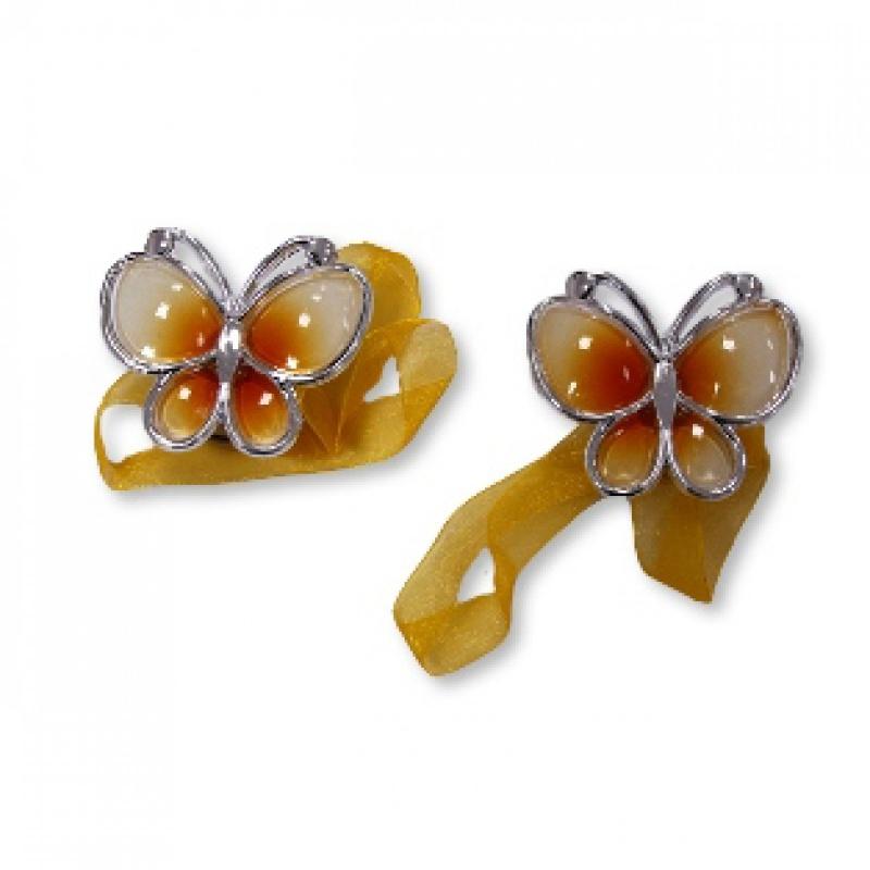 Подхват-магнит Бабочка оранжевая 2 шт