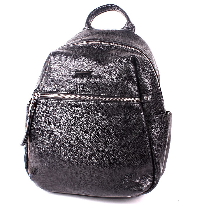 Сумка жен иск/кожа VF-551369 (рюкзак) , 1отд+карм/пер, 3внут+4внеш/карм, черный 194449