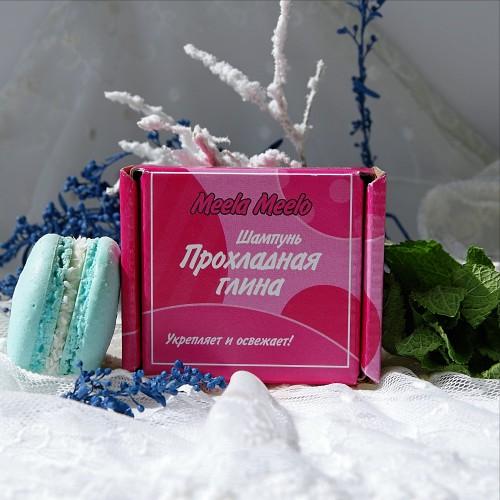 Твердый бессульфатный шампунь «Прохладная глина»